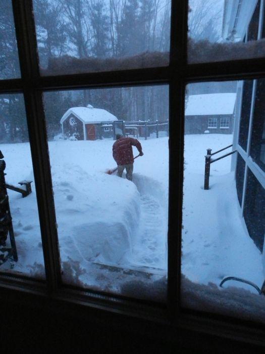 steve shoveling