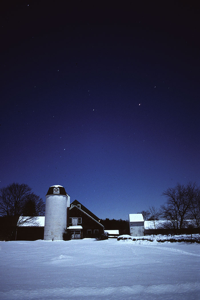 Clark Farm by moonlight