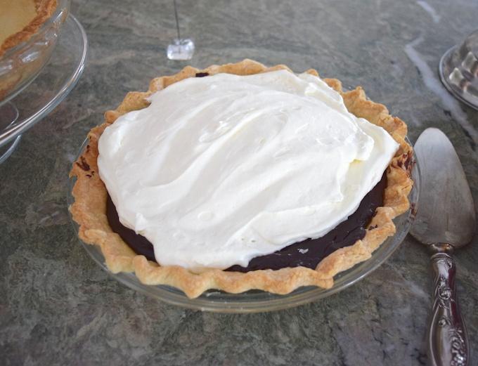 dark chocolate pie