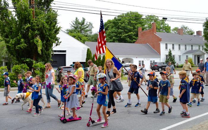 children in parade