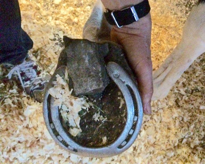 stone in shoe