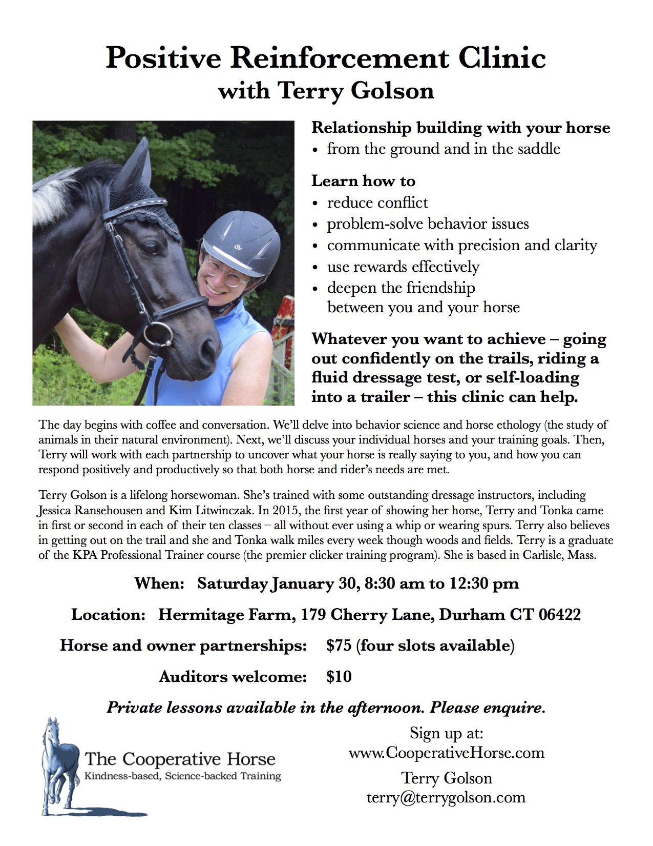 flyer for horse clinic jpeg